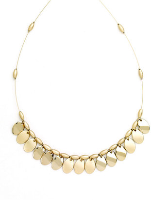 Nine West Necklace, Gold-Tone Shaky Disc Necklace