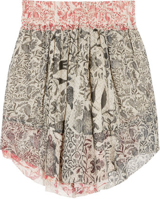 Isabel Marant Vutti printed silk-georgette skirt
