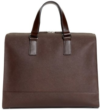 Brooks Brothers Saffiano Leather Slim Briefcase