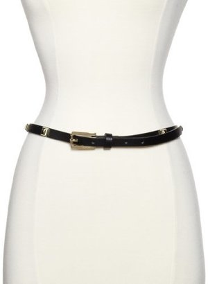 Vince Camuto Women's Skinny Leather Belt With Studs