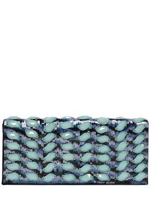 Giorgio Armani Beads And Sequins On Satin Clutch