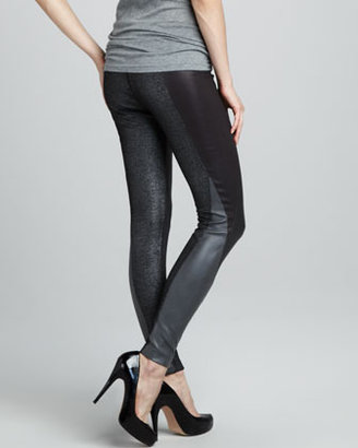 French Connection Paneled Zipper-Cuff Leggings