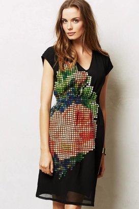 Anthropologie Pixelated Fleur Dress