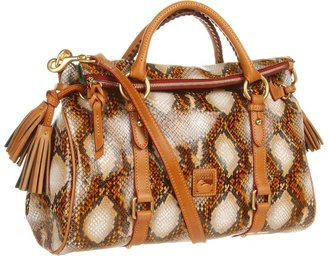 Dooney & Bourke Python Satchel (Cream) - Bags and Luggage