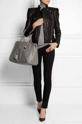 Alexander McQueen Textured-leather tote