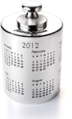 Horchow Silver-Plated Paperweight Calendar
