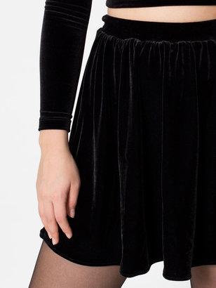American Apparel Stretch Velvet Skirt