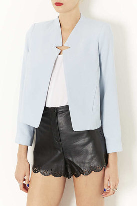 Topshop Crepe Notch Neck Jacket