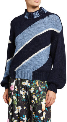 Stine Goya Adonis Diagonal Striped Sweater