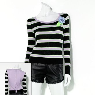 Vera Wang Princess striped sweater - juniors