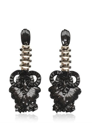 Maurizio Pecoraro Crystal Pvc Earrings