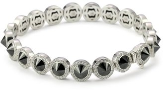 Hilton Nicky Sterling Silver Bracelet With Black Cubic Zirconia Spikes