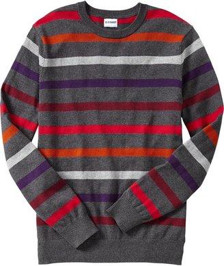 Old Navy Men's Multicolor-Stripe Crew-Neck Sweaters