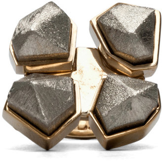 A.L.C. Four Way Faceted Ring in Sterling Brass
