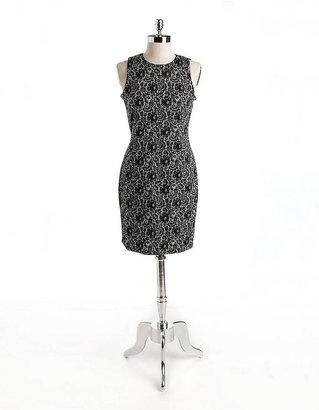 Vince Camuto Lace Print Sheath Dress