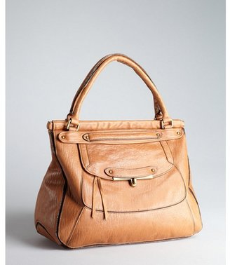 Abaco camel leather 'Olympia' top handle bag