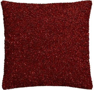 Crate & Barrel Shimmer Red Pillow