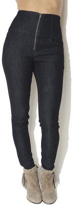 Arden B High-Waist Zip Front Jean