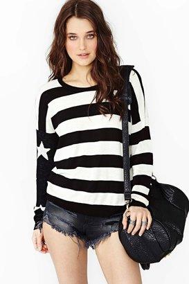 Nasty Gal Stars & Stripes Knit