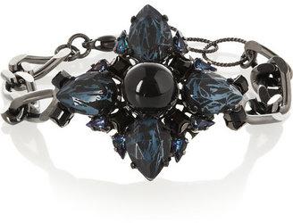 Erdem Ruthenium-plated Swarovski crystal bracelet