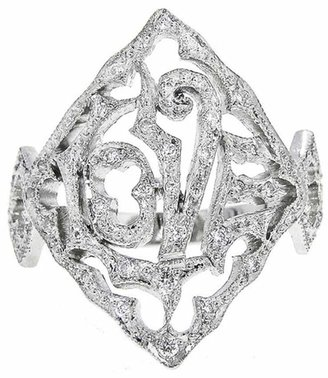 Cathy Waterman Love Ring with Diamonds - Platinum