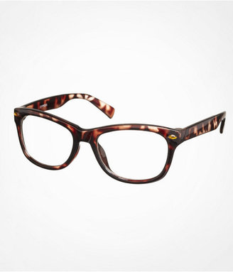 Express Tortoise Oversized Square Clear Glasses