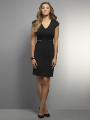 New York & Co. CityKnit Collection Dress with Zippers