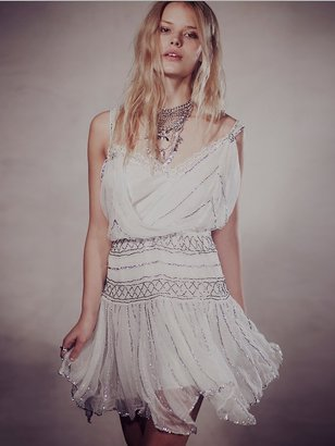 Free People Ode To Tea Shimmer Dress