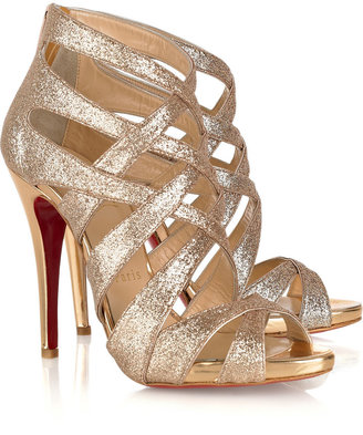Christian Louboutin Balota 120 glitter-finish multi-strap sandals