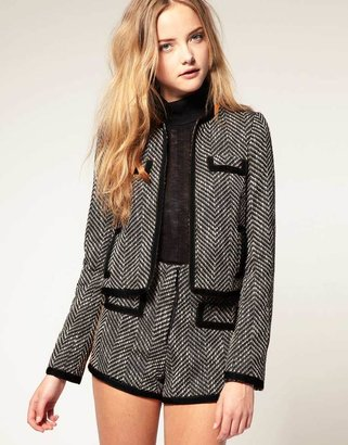 Asos Classic Boucle Jacket With Trim