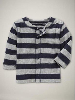 Gap Reversible striped knit cardigan