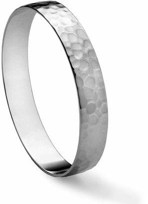 Gorham Sterling Hammer Bangle Bracelet, Large