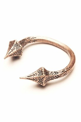 Luv Aj Carved Talon Bracelet in Copper Ox