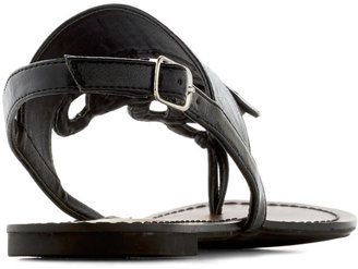 Drizzle Castle Sandal in Black