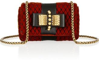 Christian Louboutin Sweet Charity Mini embellished velvet shoulder bag