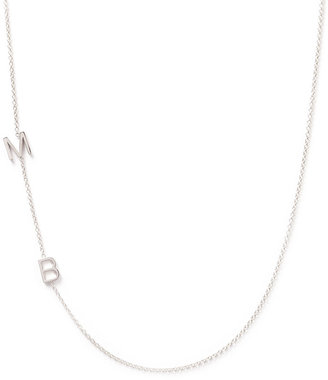Maya Brenner Designs Mini 2-Letter Personalized Necklace, 14k White Gold