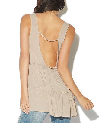 Babydoll Tiered Low V-Back Tank