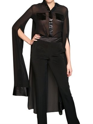 Viktor & Rolf Silk Satin On Silk Georgette Shirt