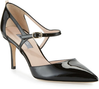 Sarah Jessica Parker Phoebe Patent Mary Jane Pumps, Black