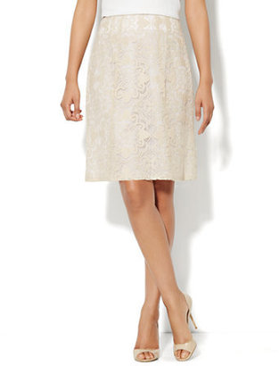 New York & Co. Floral-Lace A-Line Skirt