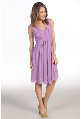 Suzi Chin for Maggy Boutique Sleeveless V-Neck Dress With Ruching