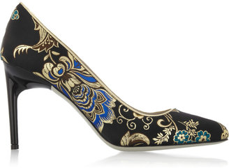 Jason Wu Lily leather-trimmed brocade pumps