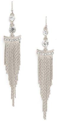 BaubleBar Silver Cleo Fringe Earrings