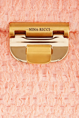Nina Ricci Bouclé-tweed clutch