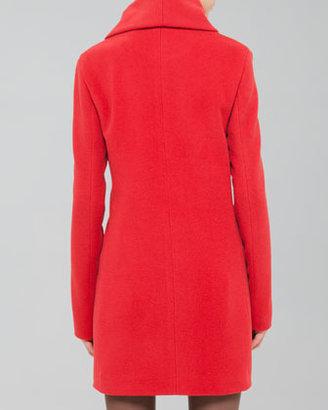 Akris Punto Buckled Shawl-Collar Short Coat