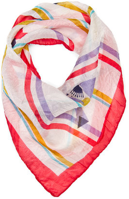MANGO TOUCH - Silk birds print scarf