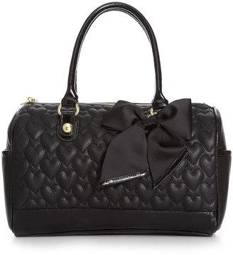 Betsey Johnson Handbag, Heart Quilted Satchel