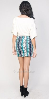 eDressMe Zig Zag Printed Mini Skirts