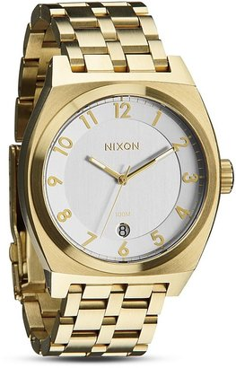 Nixon The Monopoly Watch in Champagne Gold, 40mm $225 thestylecure.com