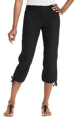 LOFT Julie Cropped Pants in Textured Cotton